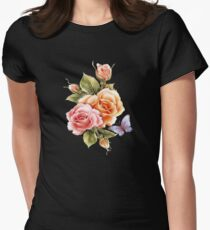 Flower-fly  Women's Fitted T-Shirt