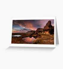 Rock Arch in Pink Greeting Card