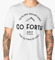 Mountains-The Ultimate High Men's Premium T-Shirt