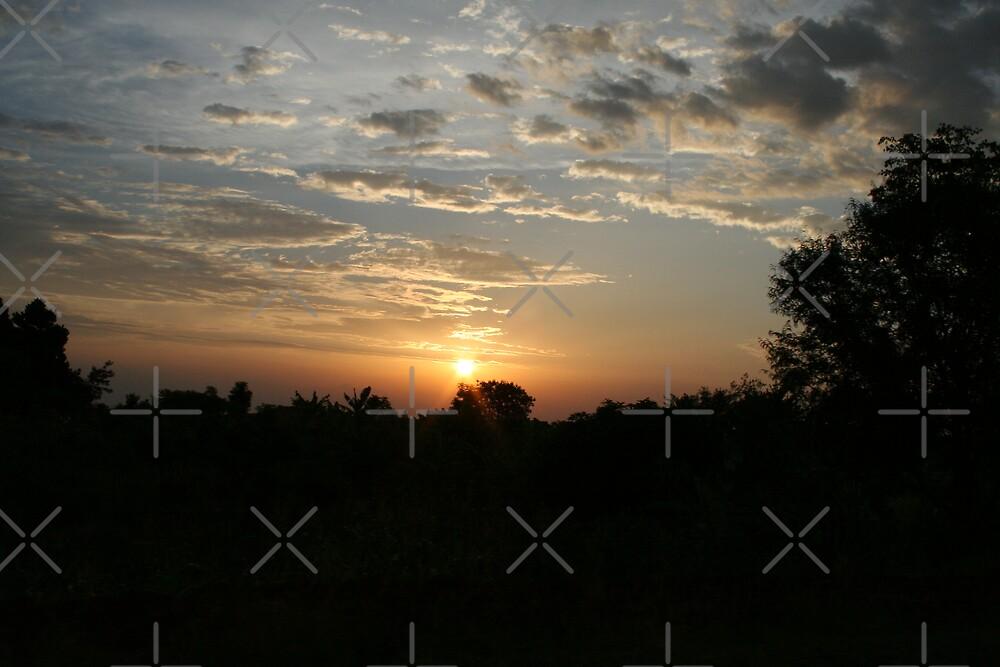 Uganda Sunset by David Tate