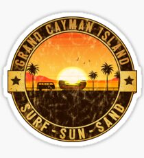 GRAND CAYMAN ISLAND CARIBBEAN SEA SURF SUN SAND BEACH OCEAN VACATION Sticker