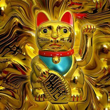 Lucky Liquid Neko Cat by mikiex