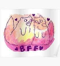 BFF Cats Poster