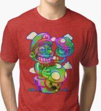 Trippy Mario Tri-blend T-Shirt