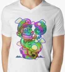 Trippy Mario Men's V-Neck T-Shirt