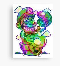 Trippy Mario Canvas Print