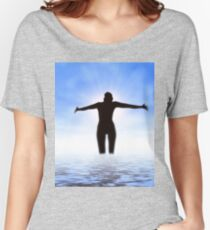 Woman in the sea Women's Relaxed Fit T-Shirt
