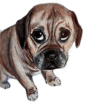 Puppy Eyes by PugsandStuff