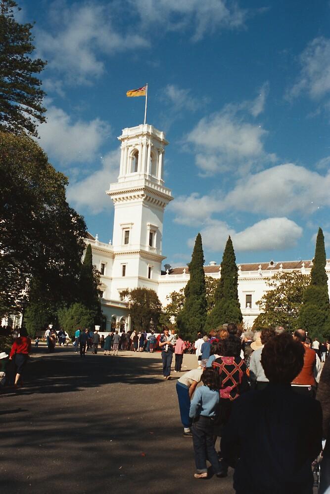 Parliament House, Melbourne; Australia Day by Roy Hirsch