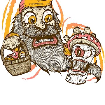 Gnome being attacked by killer shroom! by JoeyKnuckles