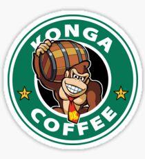 Konga Donkey Kong Coffee Sticker