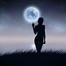 Mädchen berühren den Mond von AnnArtshock