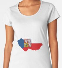 czech republic flag coat of arms Women's Premium T-Shirt
