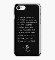 Purpose Tour Speech - Justin Bieber iPhone Case/Skin