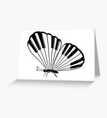 Musical Butterfly Greeting Card