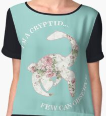 I'm A Cryptid Few Can Observe- Loch Ness Monster Chiffon Top