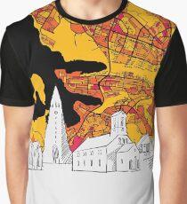 Reykjavik Colorful Artmap Graphic T-Shirt