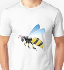 Three Dimensional 3D shiny Yellow and Black Bumble Bee Unisex T-Shirt