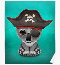 Cute Baby Koala Pirate  Poster