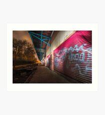 Illuminated | Abandoned Railway Station  Art Print