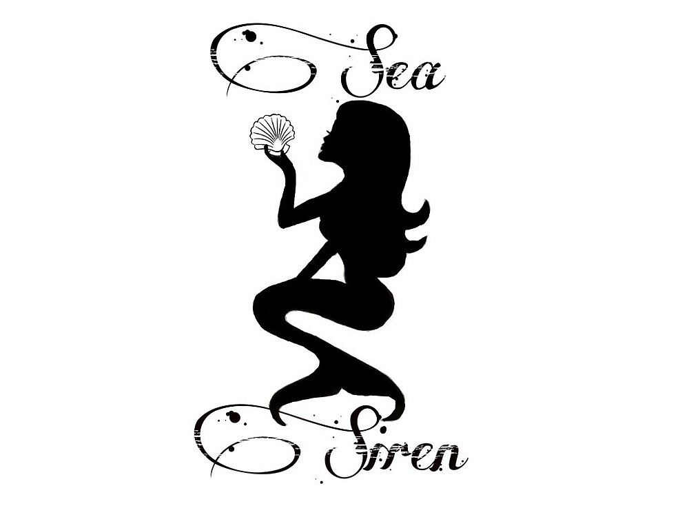 Official Sea Siren Logo with Sea Siren and Shell by kaylamartini