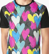 Pattern with hearts Graphic T-Shirt