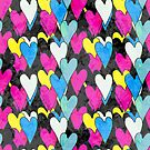 Pattern with hearts by Olga Altunina