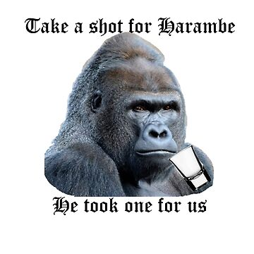 Take a shot for Harambe  by Noshin95