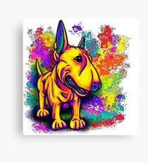 Colour Splash Bull Terrier  Canvas Print