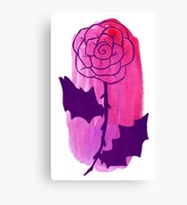 Pink Rose Watercolor Canvas Print