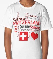 I Love Switzerland Long T-Shirt