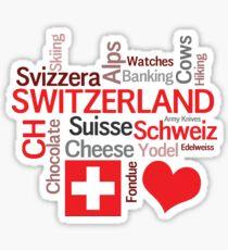 I Love Switzerland Sticker