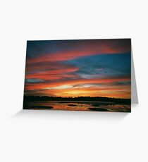October 2000 Fiery Sunset Greeting Card