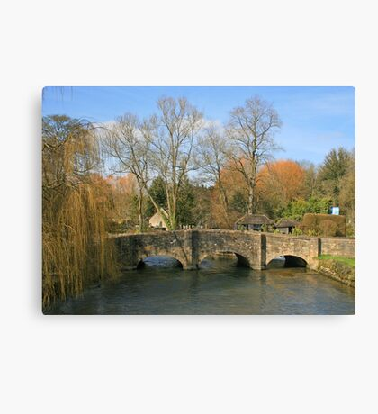 Bibury Bridge Canvas Print