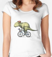 T-rex Bikers Women's Fitted Scoop T-Shirt