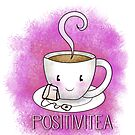 PositiviTEA - Whimsical Smiling Tea Cup in Pink by jitterfly