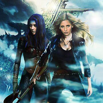 Buffy & Illyria by Bulotin