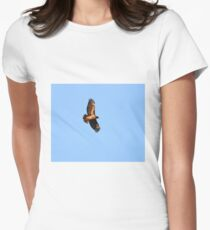 Soaring Red Tail Hawk Womens Fitted T-Shirt