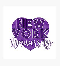 New York University Photographic Print