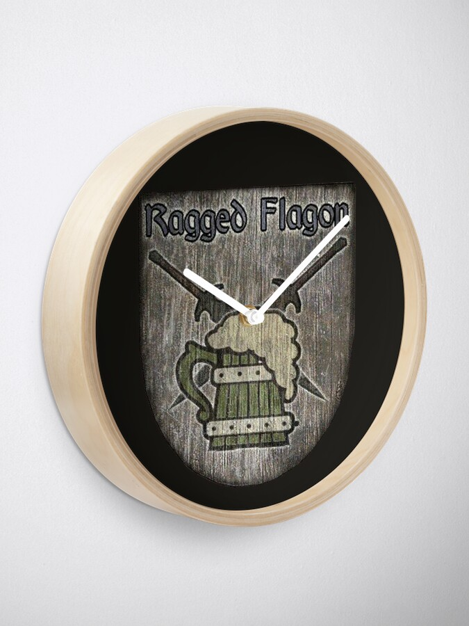 Alternate view of The Ragged Flagon Clock