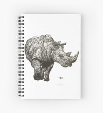 Geometric Rhino Spiral Notebook