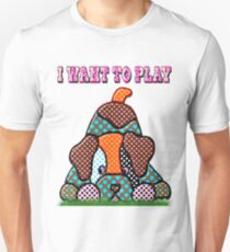Dog want to play Unisex T-Shirt