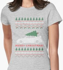 STI Ugly Christmas Sweater (2005) Women's Fitted T-Shirt