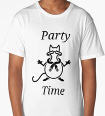 Party Time Cat Long T-Shirt