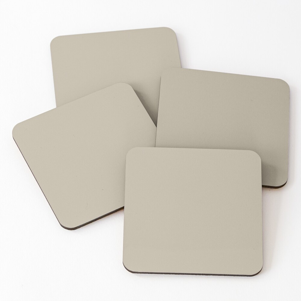 Beige Grey Coasters (Set of 4)
