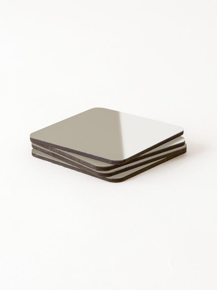 Alternate view of Beige Grey Coasters (Set of 4)