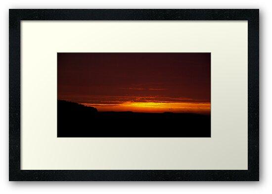 Mt Burr Sunset by Biggzie