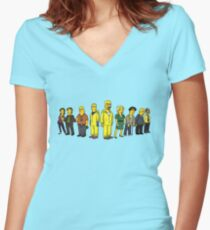 Breaking  Bad - Simpsons Women's Fitted V-Neck T-Shirt