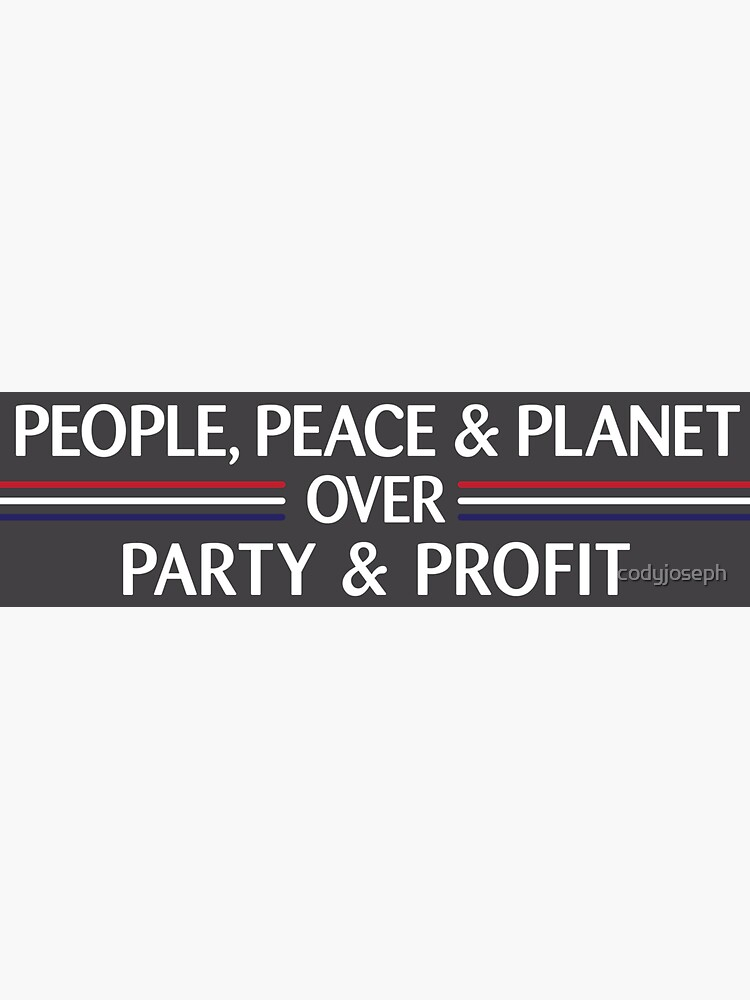 People, Peace & Planet (Gray) by codyjoseph