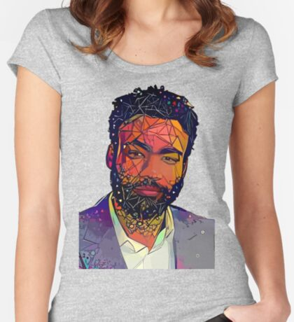 Abstract Gambino Fitted Scoop T-Shirt